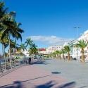 Die Strandpromenade vor dem Atlantico Playa