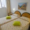 Das Schlafzimmer mit 2 Einzelbetten