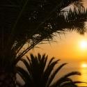 Abendstimmung mit Blick auf das Meer