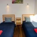 Südschlafzimmer mit zwei Einzelbetten