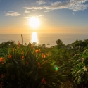 Der Sonnenuntergang am Ferienhaus Evelina