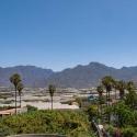 Blick über die Finca (links unten) zur Caldera de Taburiente
