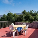 Die große Terrasse mit großartigem Ausblick