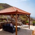 Mit Blick über die Westküste von La Palma